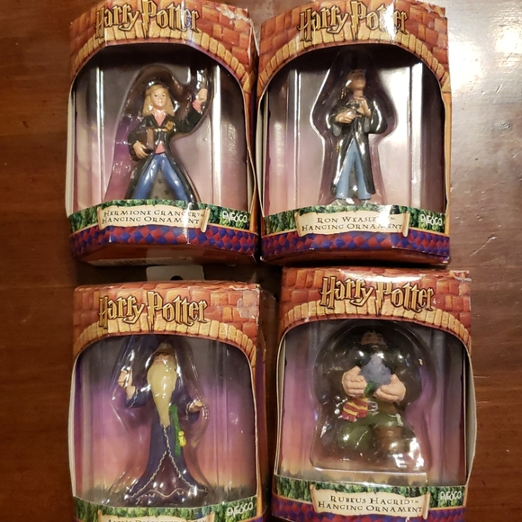 Four Harry Potter hanging ornaments